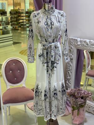 Šaty SEBASTIAN bielo-modré