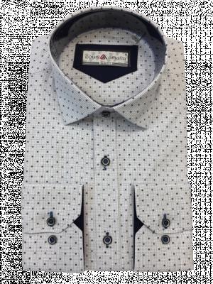 Pánska biela vzorovaná košeľa Maxil