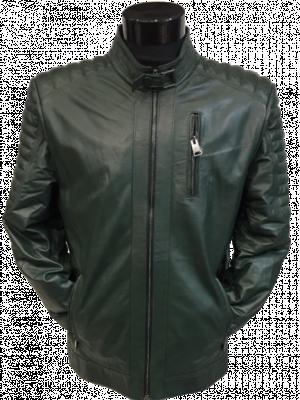 Zelená kožená bunda Roza
