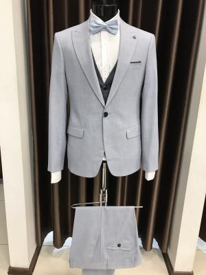 Sivý pánsky oblek Caspian MODEL 21YK01048 AD 595 COLOR 10