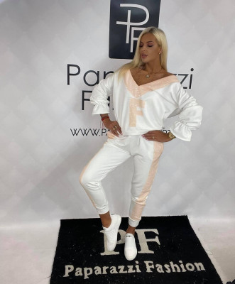 Teplákový komplet PF FRANCA biely