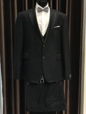 Čierny pánsky oblek Fabio Bossi MODEL 3698 AD 285 COLOR 6-A