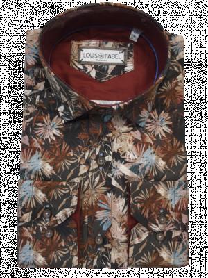 Pánska hnedá vzorovaná košeľa Andrew