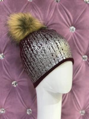 Zimná čiapka Keren bordová