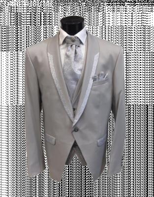 Lesklý pánsky oblek Damian