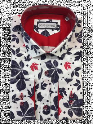 Pánska biela vzorovaná košeľa Winny