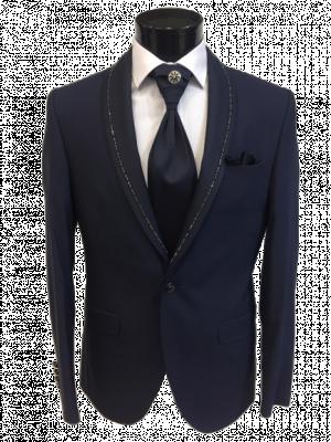 Tmavo modrý pánsky oblek Hakan