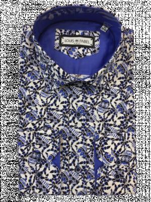 Pánska bielomodrá vzorovaná košeľa Egan
