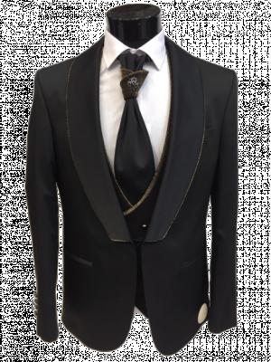 Čierno zlatý pánsky oblek Julio