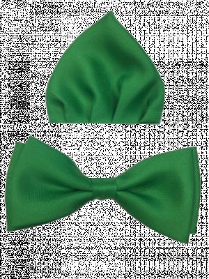 Zelený motýlik s vreckovkou 85