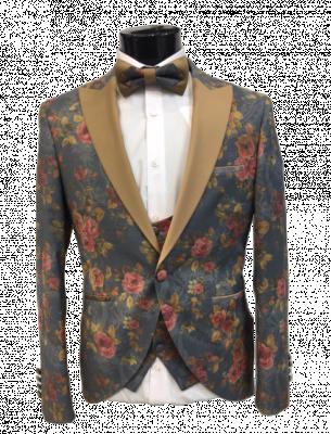 Kvetovaný pánsky oblek Baggi Marco