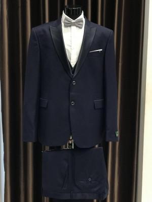 Tmavo-modrý pánsky oblek Fabio Bossi MODEL 3698 AD 285 COLOR 8