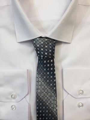 Sivá vzorovaná kravata 58