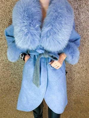 Kabát Lujza modrý