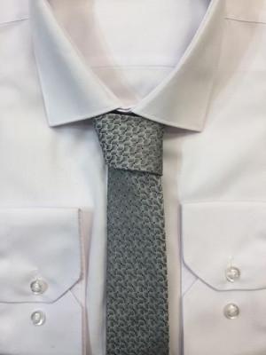 Sivá vzorovaná kravata 55