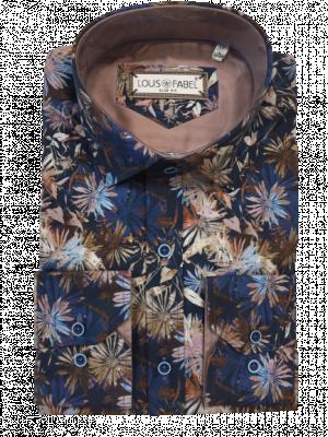 Pánska modrá vzorovaná košeľa Emilio