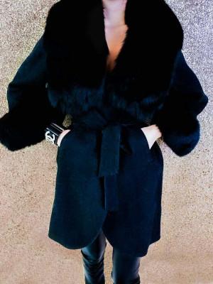 Kabát Lujza čierny
