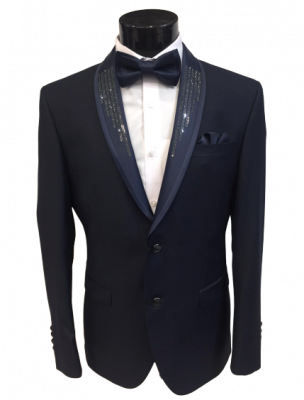 Tmavo modrý pánsky oblek Tarik