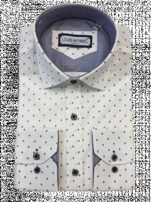Pánska biela vzorovaná košeľa Liner