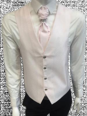 Ružová svadobná vesta s ornamentami