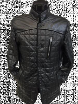 Čierna kožená bunda Italy