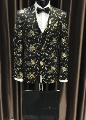 Čierno zlatý pánsky oblek Brett