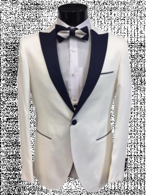 Bielo modrý pánsky oblek Aurel