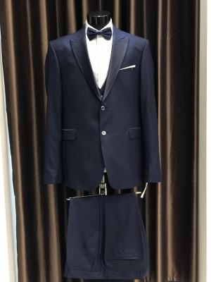 Tmavo-modrý pánsky oblek Fabio Bossi MODEL 3698 AD 285 COLOR 1