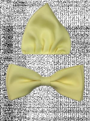 Žltý motýlik s vreckovkou 91