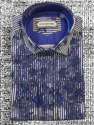 Pánska pásikavá vzorovaná košeľa Loran