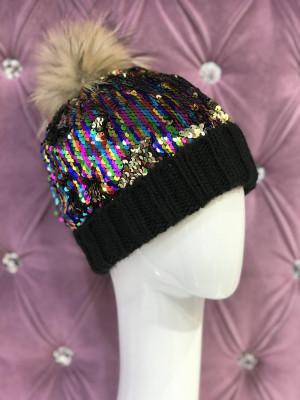 Zimná čiapka Lorens čierna