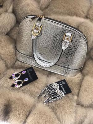 Elegantná strieborná kabelka Silver 2