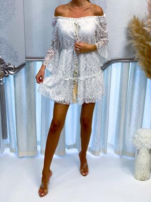 Šaty AGATA biele