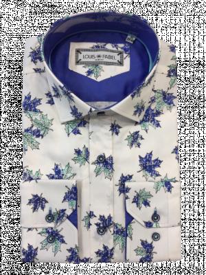 Pánska biela vzorovaná košeľa Samuel