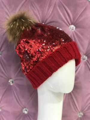 Zimná čiapka Lola červená