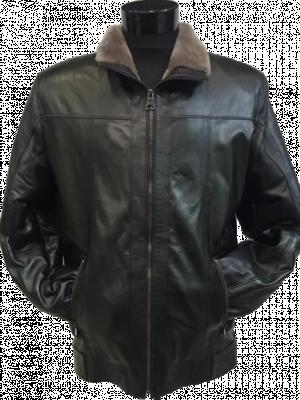 Čierna kožená bunda Pelle