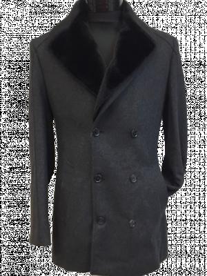 Šedý kabát Villiam