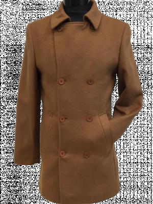 Hnedý kabát Giaguaro