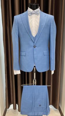 Modrý pánsky oblek Dustin MODEL 19Y010214 AD 602 COLOR 11