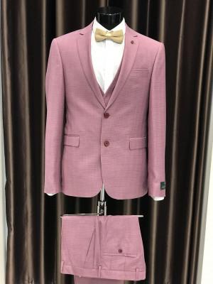 Ružový pánsky oblek Fabio Bossi MODEL 5361 AD 204 COLOR 1
