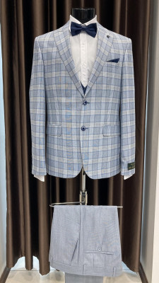 Károvaný pánsky oblek Carlos MODEL 5541 PRT 180 COLOR 7