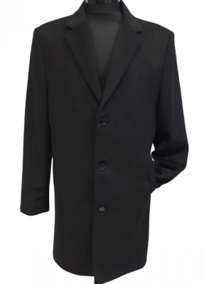 Čierny kabát Marco Menti