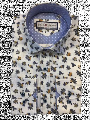 Pánska vzorovaná košeľa Reném