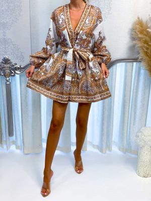 Šaty ISLA béžovo-hnedé