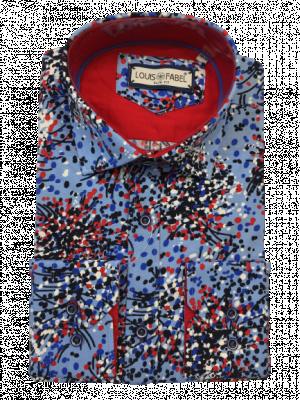 Pánska modrá vzorovaná košeľa Dotmark
