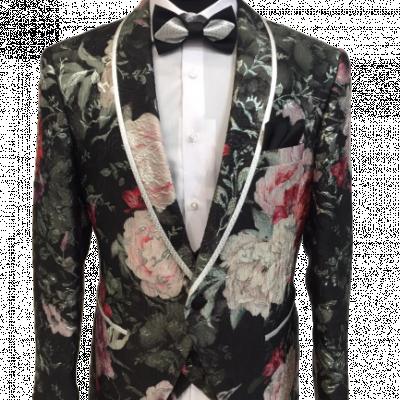 Kvetovaný pánsky oblek Baggi Alan